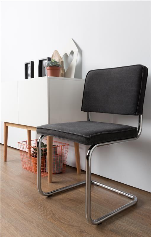 zuiver stoel ridge brushed vintage charcoal 7002200080