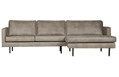 BePureHome Bank Rodeo Met Chaise Longue Rechts Elephant Skin
