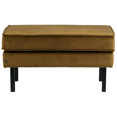 BePureHome Hocker Rodeo Velvet op poten