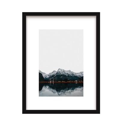 Urban Cotton Art Print Nordic Mountain incl. lijst 31 x 21 cm / 40 x 30 cm