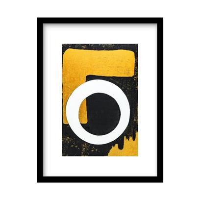 Urban Cotton Art Print Circle One incl. lijst 31 x 21 cm / 40 x 30 cm