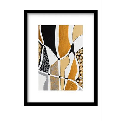 Urban Cotton Art Print Labyrinth Black incl. lijst 31 x 21 cm / 40 x 30 cm