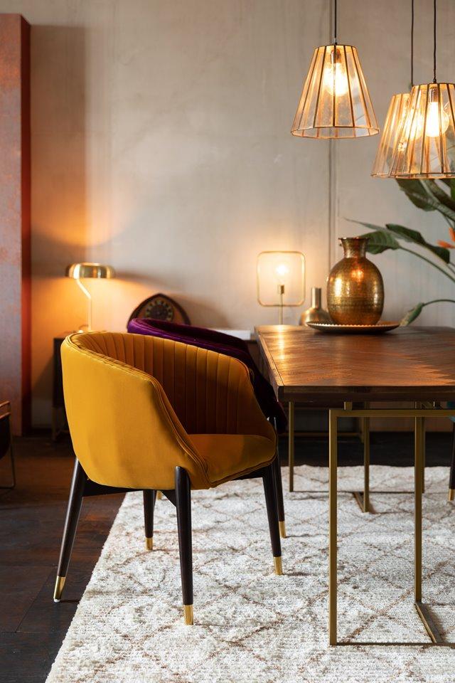 Een chique interieur met deze velvet stoelen
