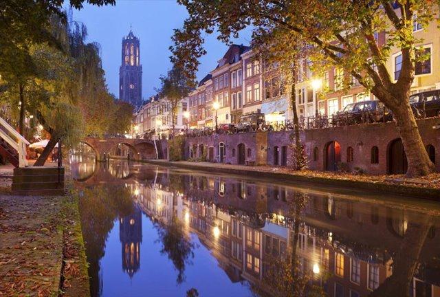 Glasschilderij Utrecht m'n stadsie