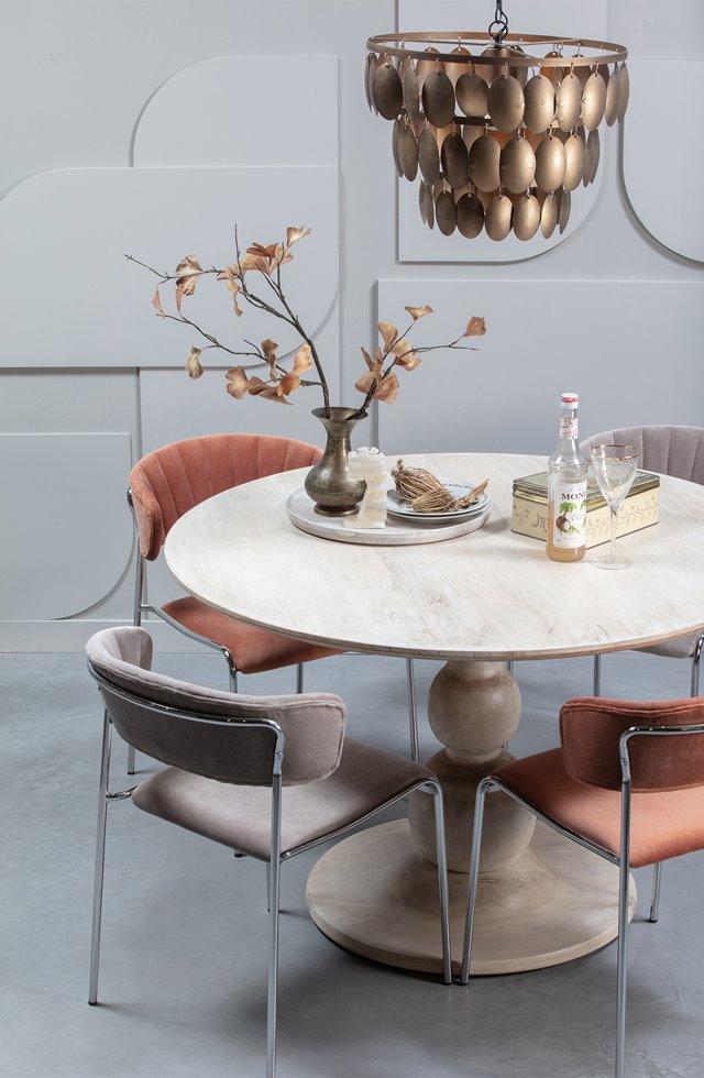Ronde tafel Blanco: sierlijk en elegant