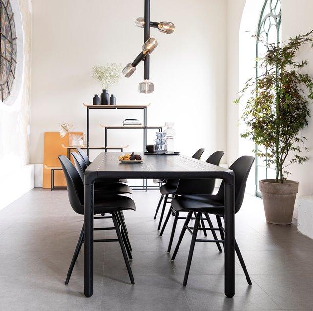 10x Zwarte eettafels